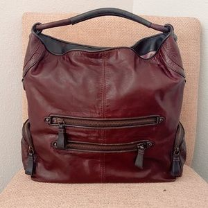 Leather Coach Hobo Shoulder Bag